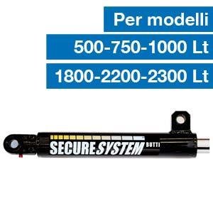 Cilindro idraulico per sistema di sicurezza secure system Butti 777P0500