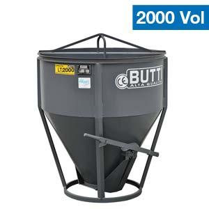Benna per calcestruzzo a scarico centrale Butti 210V