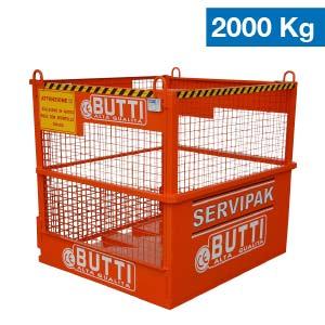 Cesta Servipak per il sollevamento di materiale in sicurezza Butti 392