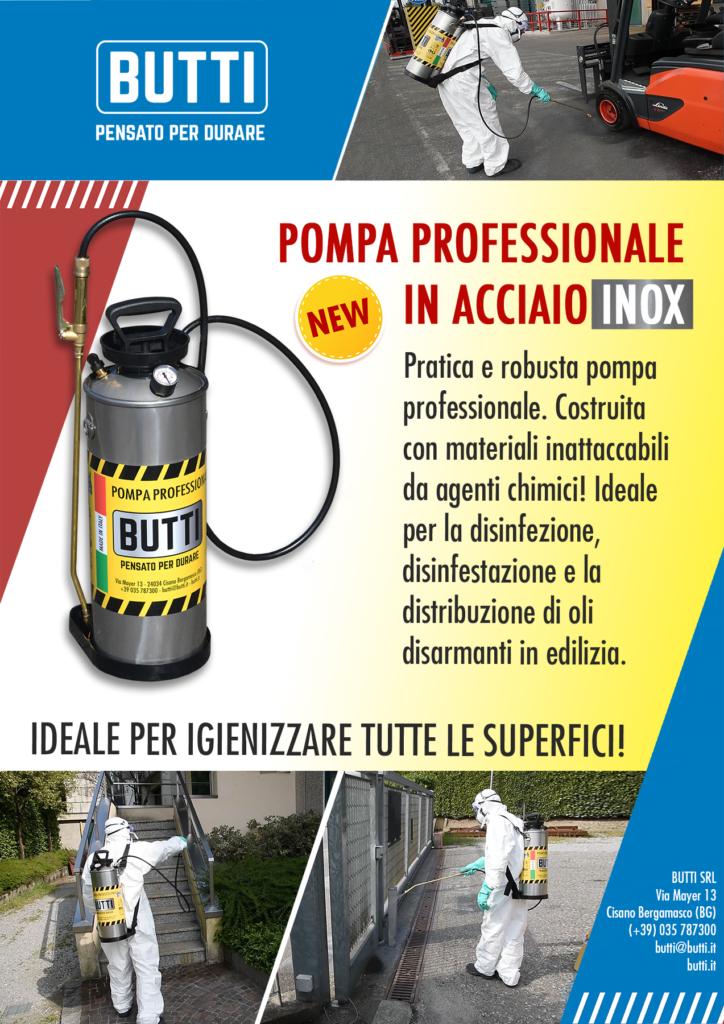 Pompa professionale in acciaio inox Butti
