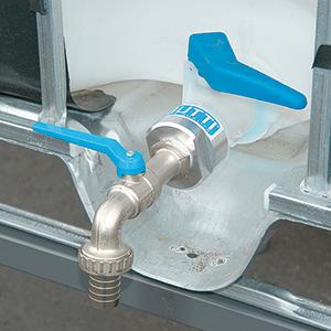 Riduzione in alluminio con rubinetto Butti