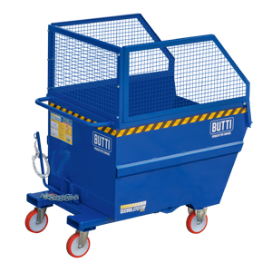 """77B1800R - Tipping containers """"pertutto"""" specific for big volumes- Paper and plastic 1800 lt"""