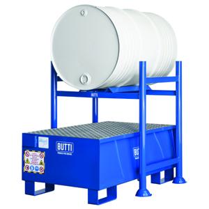 801 + 801VG vasca di contenimento vasca di raccolta vasca a tenuta stagna vasca stoccaggio fusti grigliato Butti