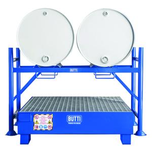 802 + 802VG vasca di contenimento vasca di raccolta vasca a tenuta stagna vasca stoccaggio fusti grigliato Butti
