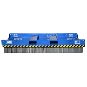 865C25- Scopa IndustrialLarge con spazzole in acciaio 2500 mm scope rottamai industria piazzali Butti