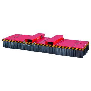865UC25- Scopa Universal Large con spazzole in acciaio, larghezza 2500 mm