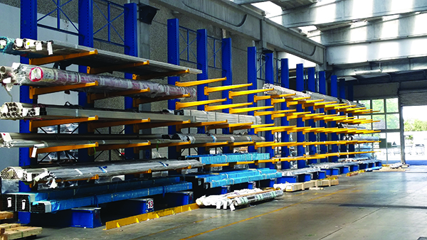 Cantilever Industrial shelving, industrial shelving, plant, organization, products, goods, shelves, Butti