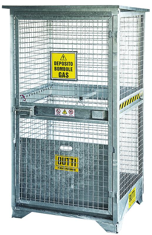 Deposito per bombole a gas con un'anta depositi stoccaggio Butti