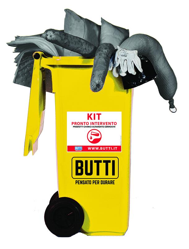 Kit per prodotti chimici altamente corrosivi acidi assorbenti recycling Butti