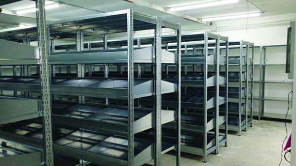 Industrial shelving, industrial shelving, medium-light series, plants, organization of products, goods, shelves, Butti