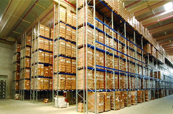 Industrial shelving, pallet rack, industrial shelving, plant, organization, products, goods, shelves, Butti