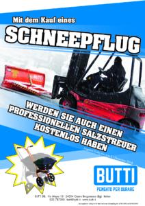 Schneepflug Winter Schnee Salzstreuer professionelle Tribut Eis Enteisungsschnee Gebläse Butti