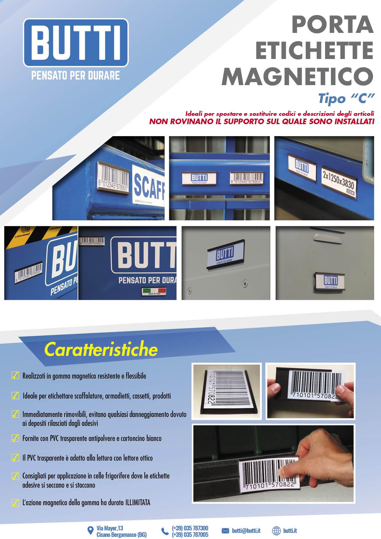 Porta etichette magnetici