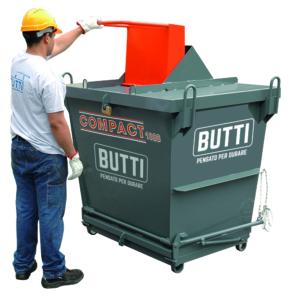 Contenitore a fondo apribile Compact Cassaforte sfridi rifiuti rottami volume 1000 con chiusura di sicurezza per sfridi di metalli preziosi Butti 1