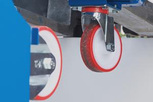 Rueda anti-ruido para contenedor basculante Pertutto Butti 777R125