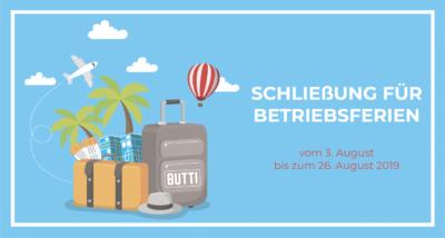 Butti wünscht Ihnen schöne Sommerferien