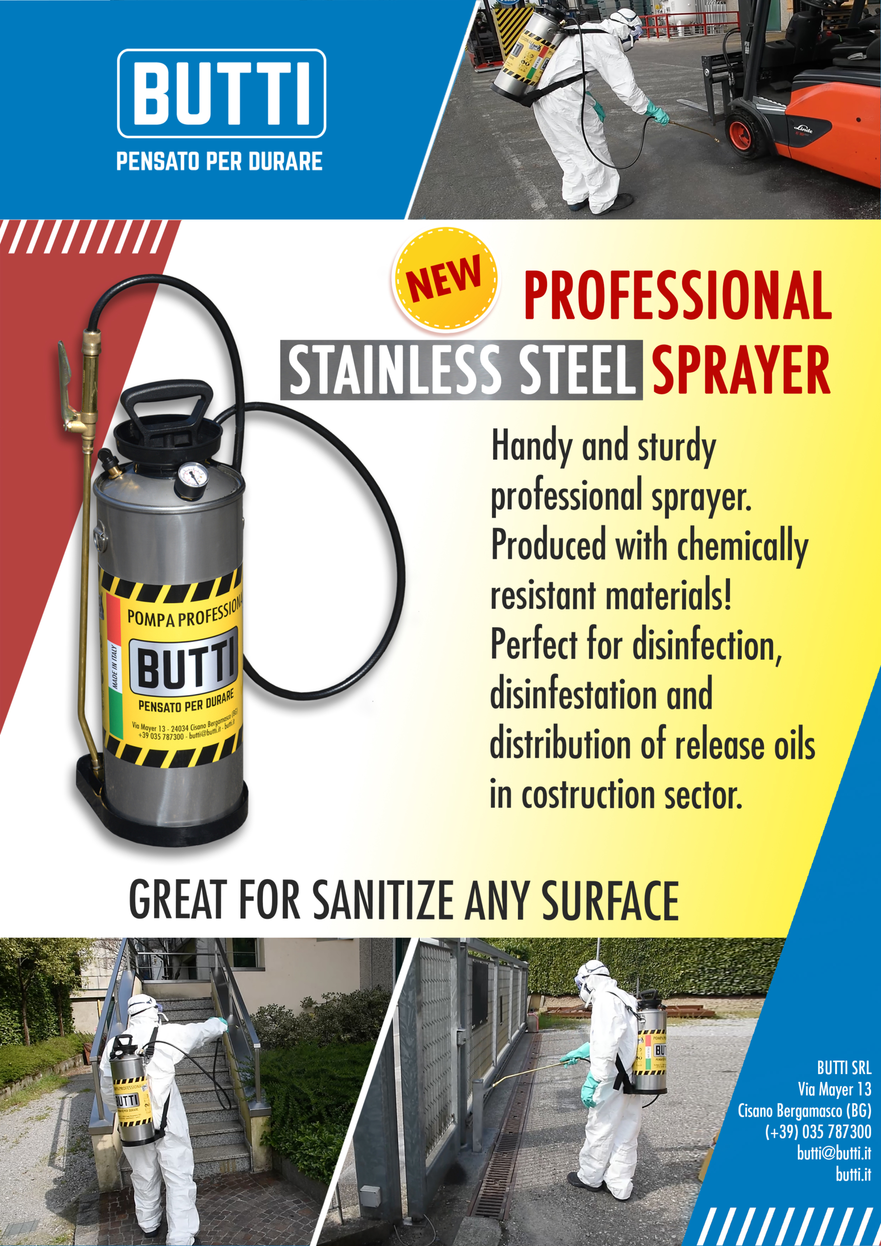 Professional stainless steel sprayer