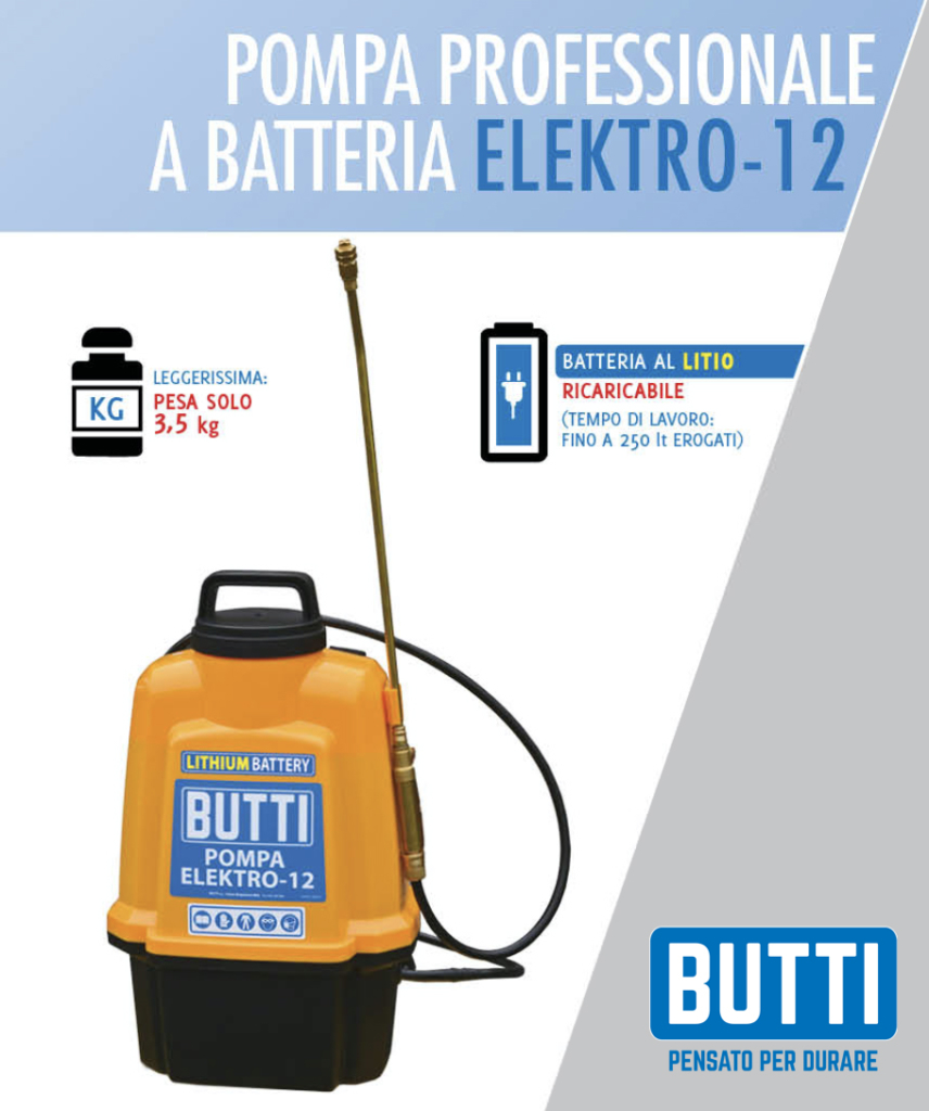 Pompa professionale a batteria Elektro-12 Butti