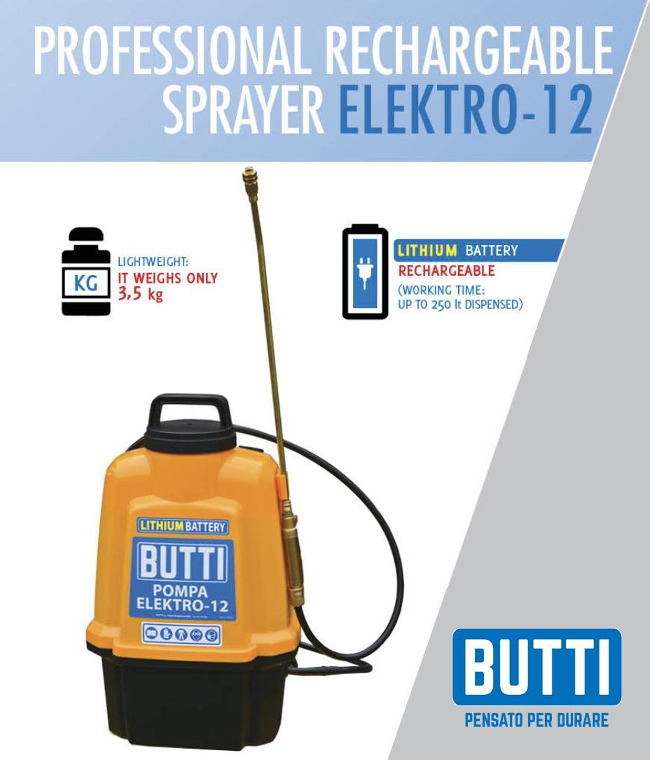 Professional rechargeable sprayer Elektro-12 Butti