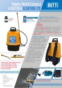 Pubblicità pompa a batteria elektro-12 Butti