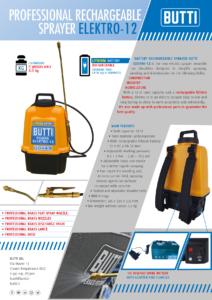 Battery rechargeable sprayer Elektro-12 Butti