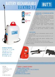 Elektro-15 battery rechargeable sprayer Butti