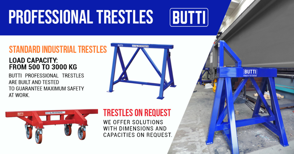 Professional industrial trestles certified Butti