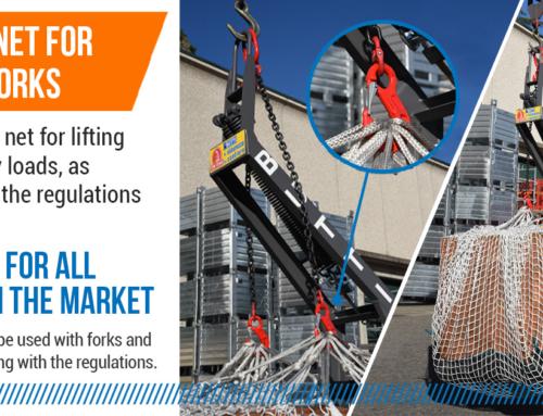 Safety net for crane forks