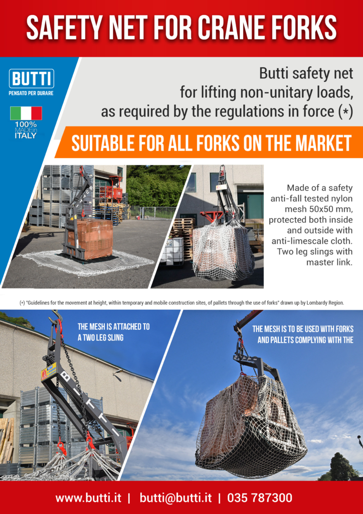Butti safety net for crane forks
