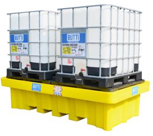 Polyethyleen tank voor zure stoffen voor twee tanks 8070V2CP Butti
